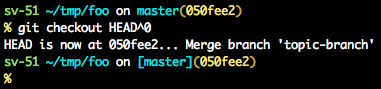 Output from 'git checkout HEAD^0' without advice