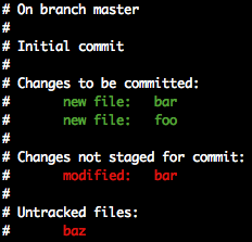 'git status' without advice